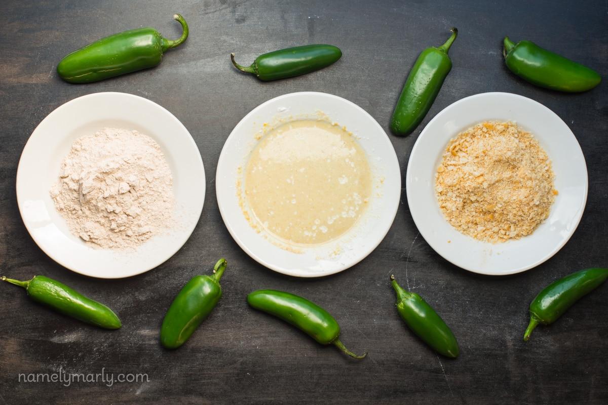 Vegan Baked Jalapeño Poppers