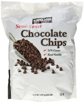 The Namely Marly dairy-free chocolate chip guide includes Kirkland's Semi-Sweet Chocolate Chips