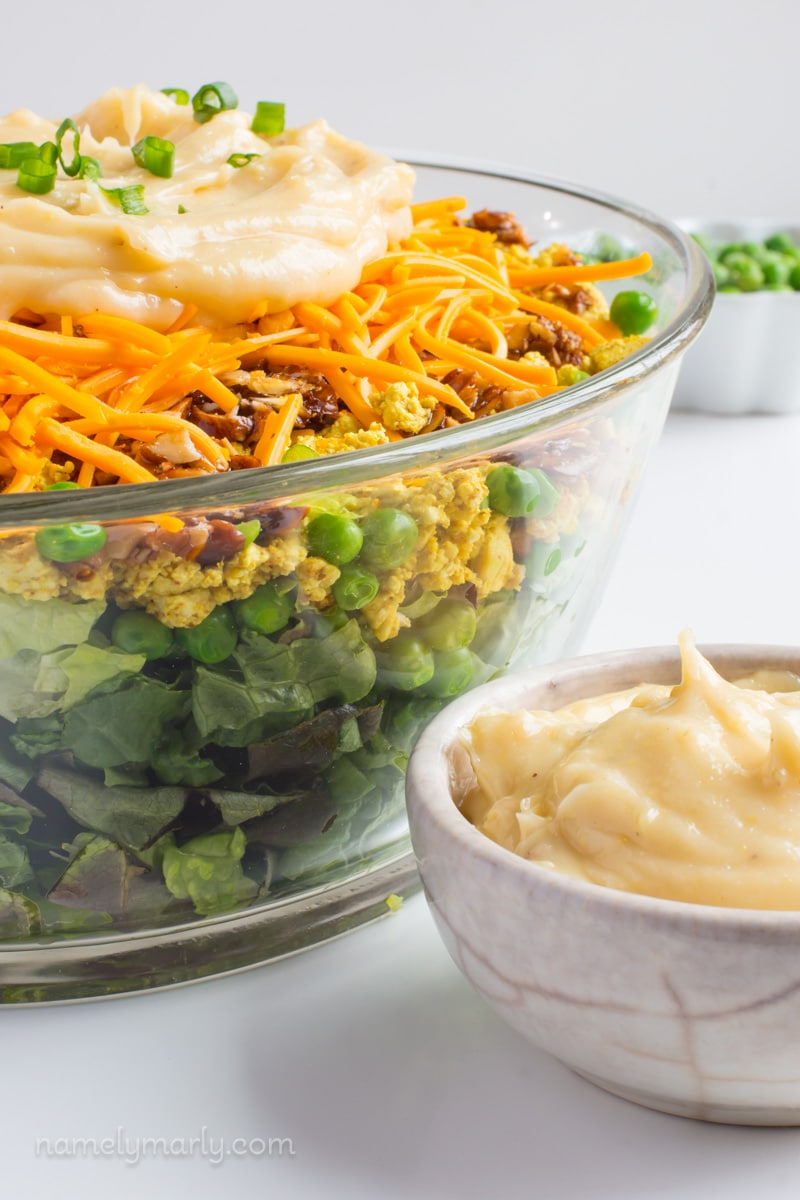 The Perfect Vegan Seven Layer Salad