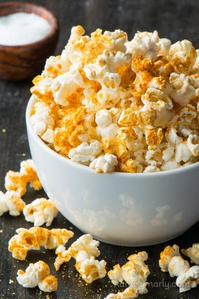 The best DIY Microwave Popcorn with a recipe for Nooch Popcorn. It's butter-free, healthy, affordable, and OH so delicious!