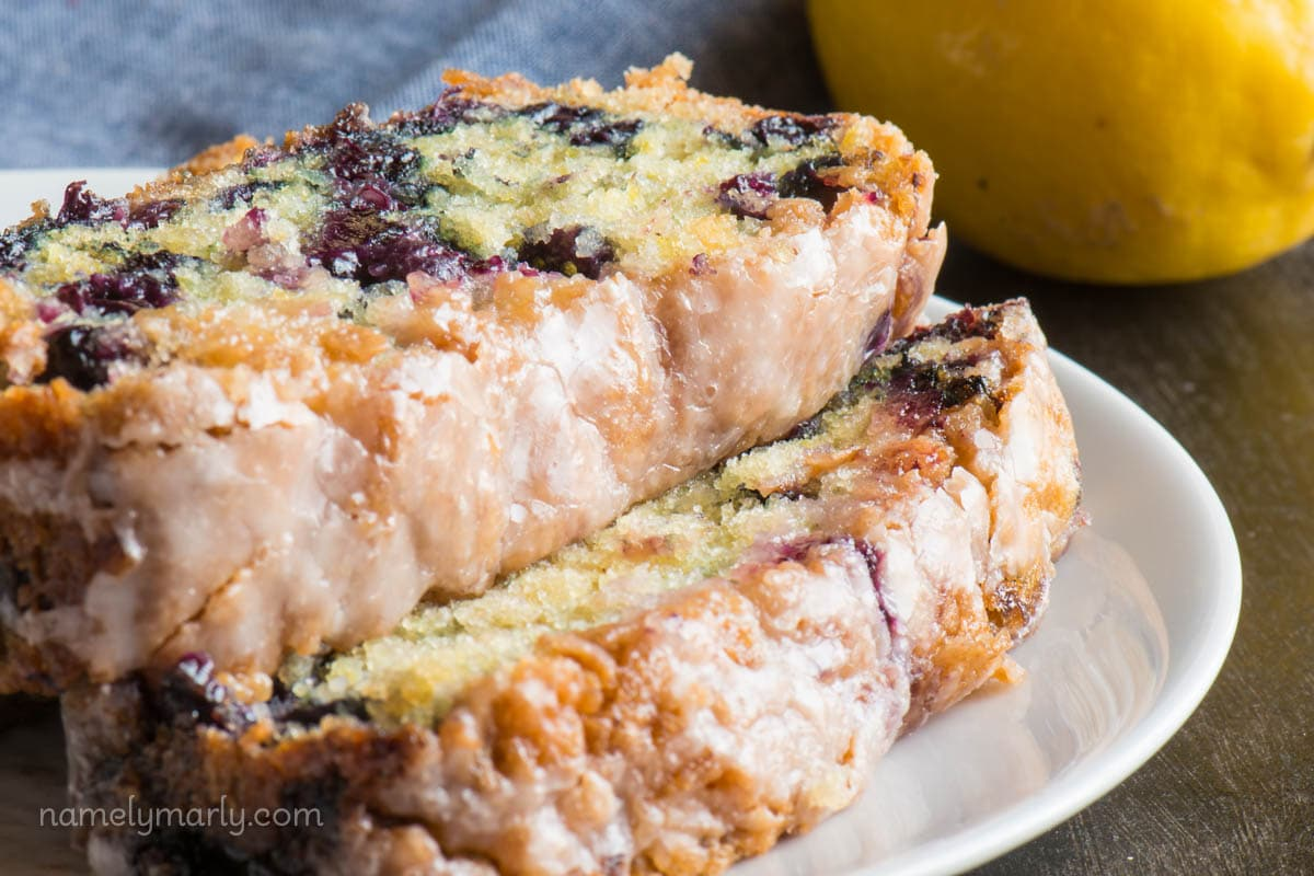 Vegan Blueberry Lemon Yogurt Cake - Namely Marly