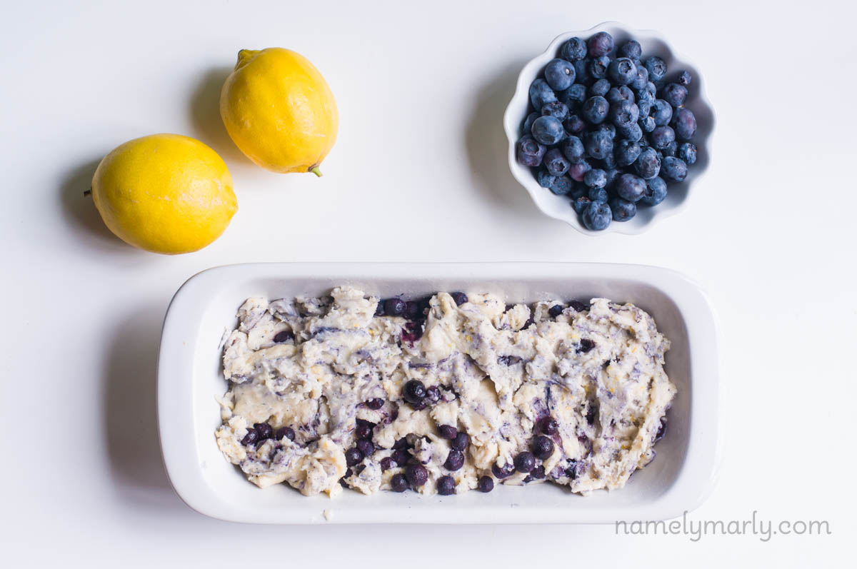 Vegan Lemon Blueberry Yogurt Cake