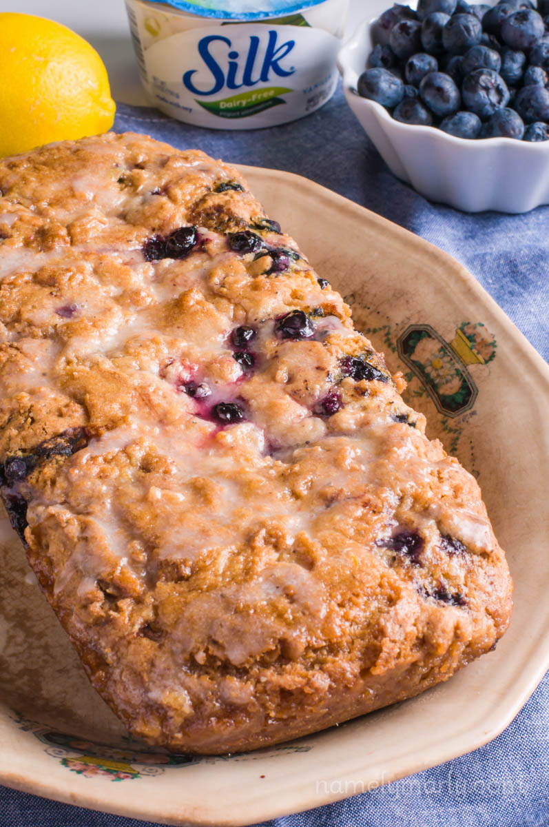 Vegan Blueberry Lemon Yogurt Cake