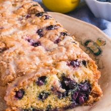 Vegan Lemon Blueberry Yogurt Cake is a sweet, fresh flavored treat good enough to have any day of the week! It's perfect for dessert or snack time!