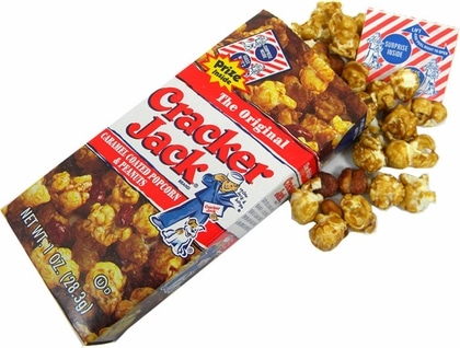 Cracker Jack Popcorn is listed as an accidentally vegan product on Namely Marly
