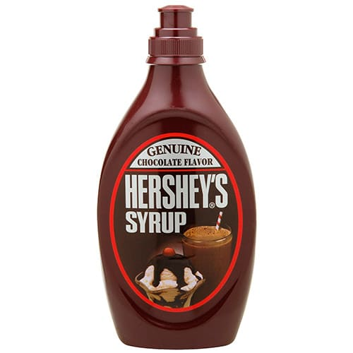 Hershey's Chocolate Syrup is listed as accidentally vegan food on Namely Marly
