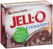 Jello Cooke & Serve Puddings are listed as accidentally vegan food on Namely Marly