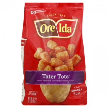 Oreida Tater Tots are listed as accidentally vegan food on Namely Marly