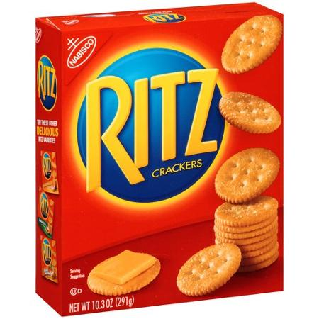 Ritz Crackers are listed as accidentally vegan food on Namely Marly