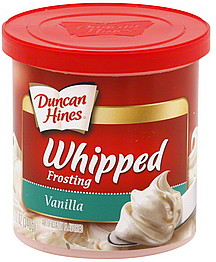 Duncan Hines Creamy Homestyle Frosting is listed as an accidentally vegan food on Namely Marly