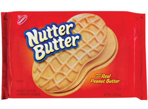Nutter Butter cookies are listed as an accidentally vegan food on Namely Marly
