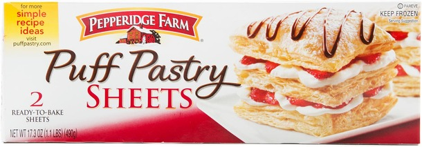Pepperidge Farms Puff Pastry is listed as an accidentally vegan food on Namely Marly