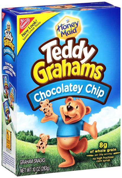 Chocolate Chip Teddy Grahams are listed as an accidentally vegan food on Namely Marly