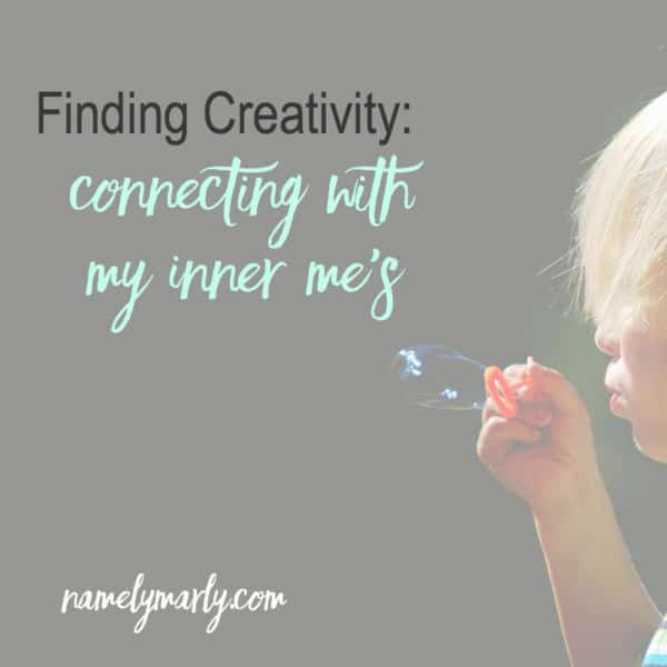 Finding Creativity through connecting with my inner me's. Sounds crazy, but sometimes crazy can be effective!