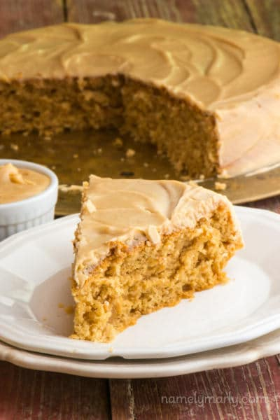 Vegan Peanut Butter Wacky Cake - such a simple dessert recipe with delicious flavor!