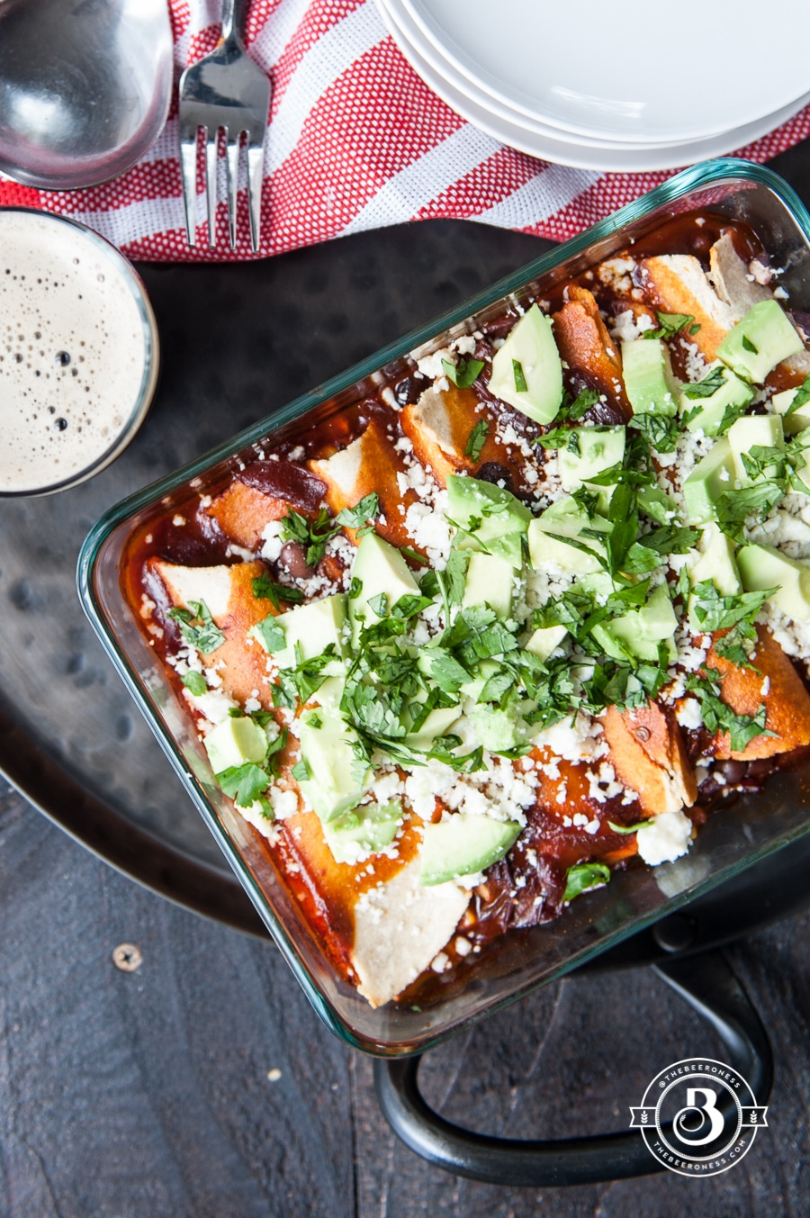 Corn and Black Bean Enchiladas are part of this 50 Best Vegan Cinco de Mayo Recipe Roundup Post