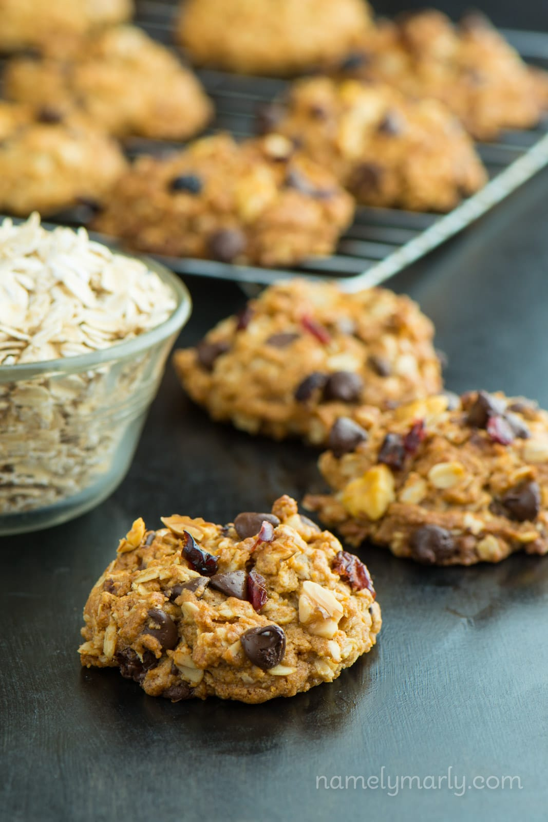 Chewy Oatmeal Chocolate Chip Cookies - Namely Marly