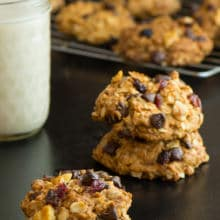 Oatmeal Chocolate Chip Cookies with soy milk