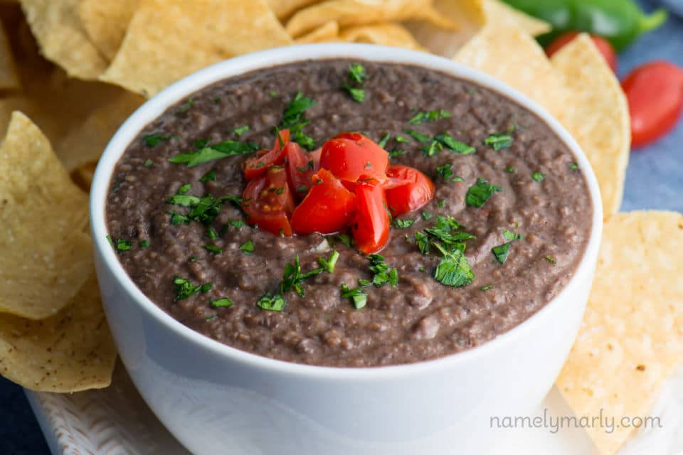 Fresh and Easy Black Bean Dip Recipe - Namely Marly