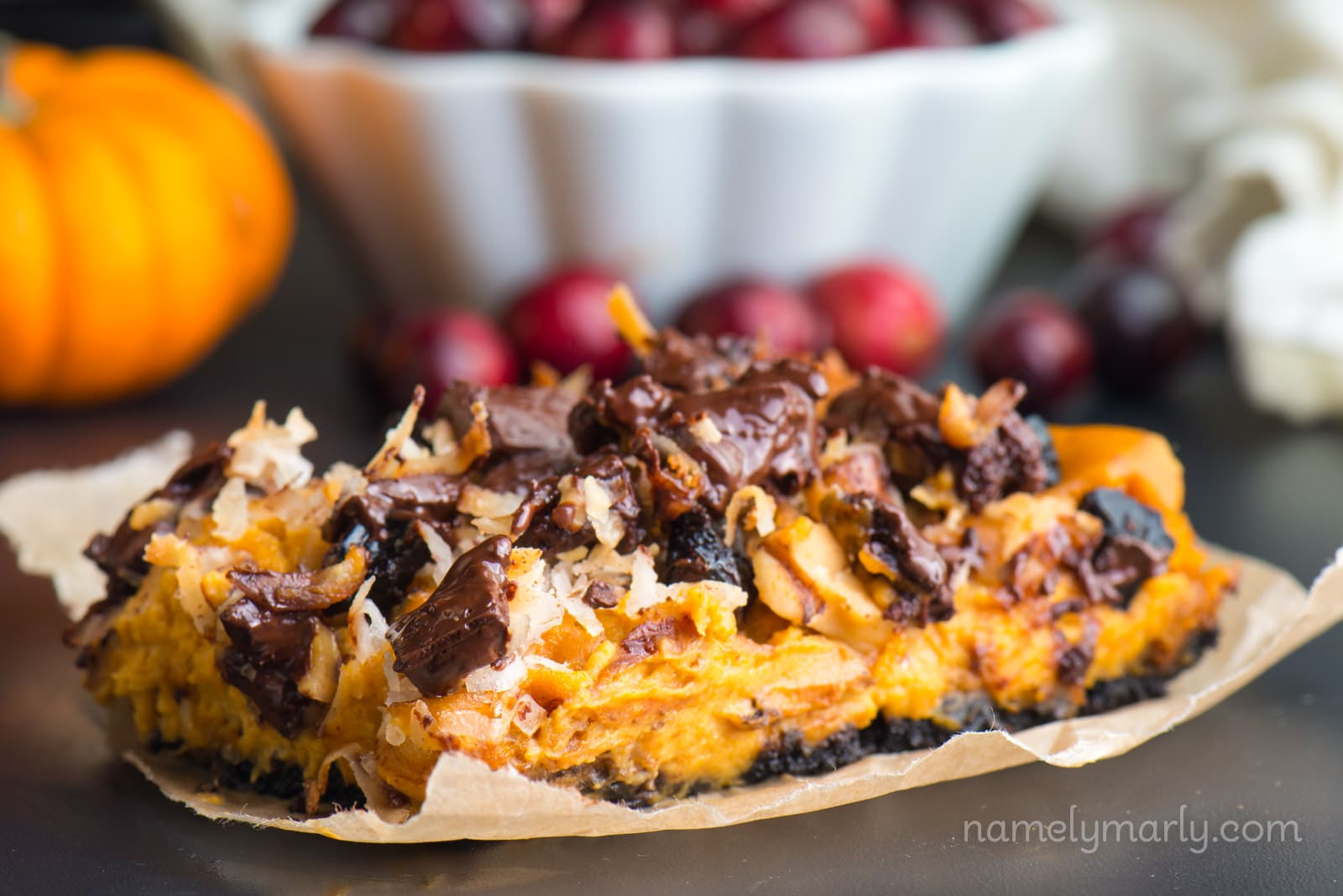 Vegan Pumpkin Magic Bars