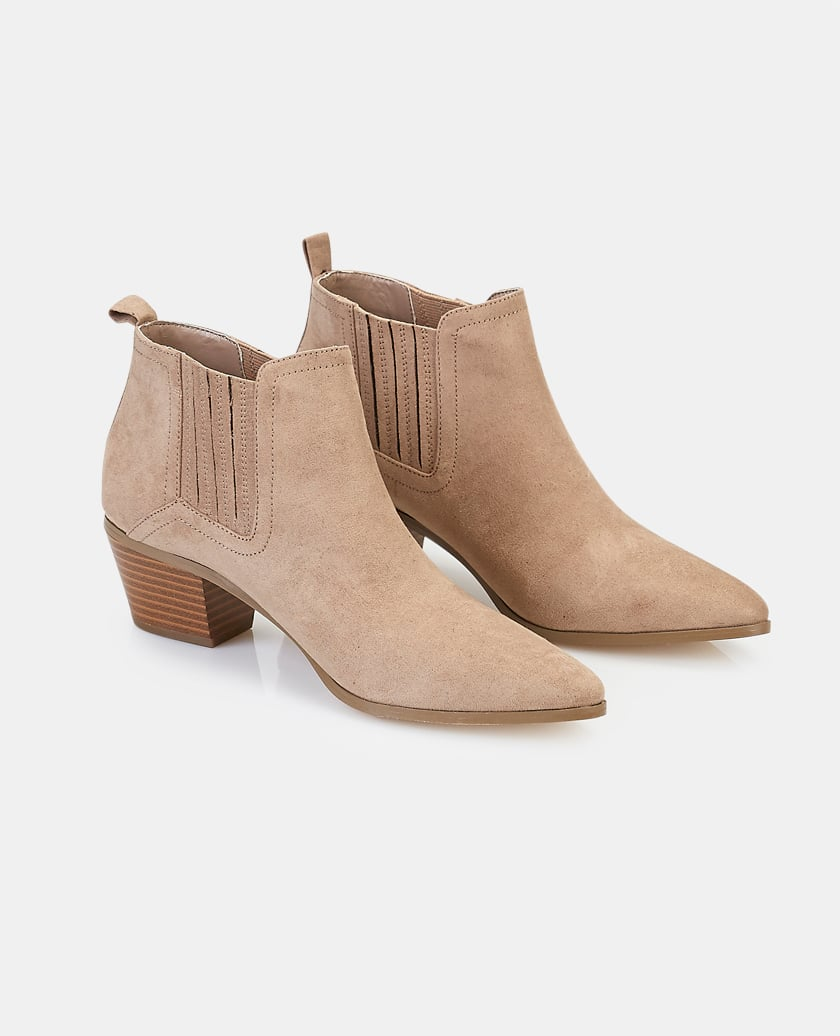 Faux Suede Pointy toe Booties