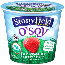Stonyfield offers a vegan line of yogurt