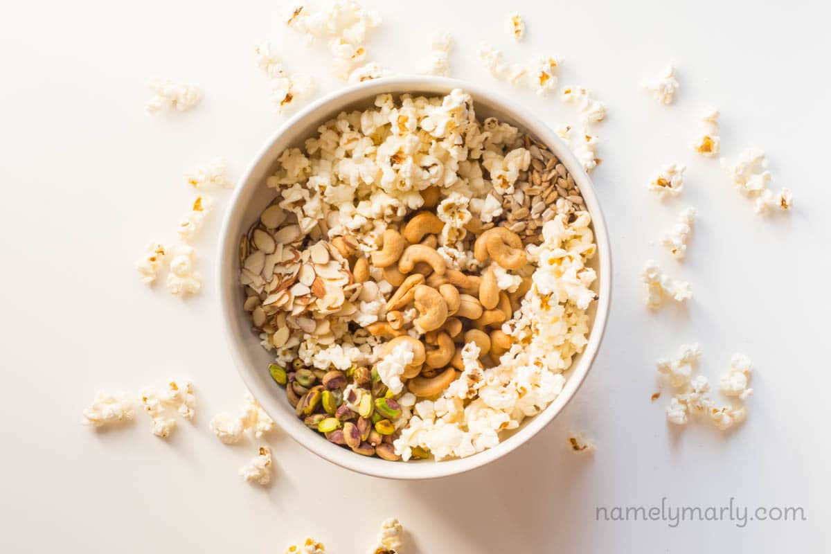 Vegan Cinnamon Popcorn Trail Mix