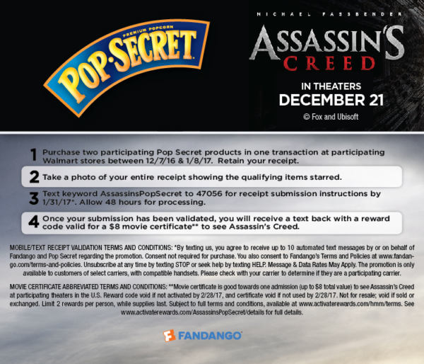 PopSecret Assassin's Creed