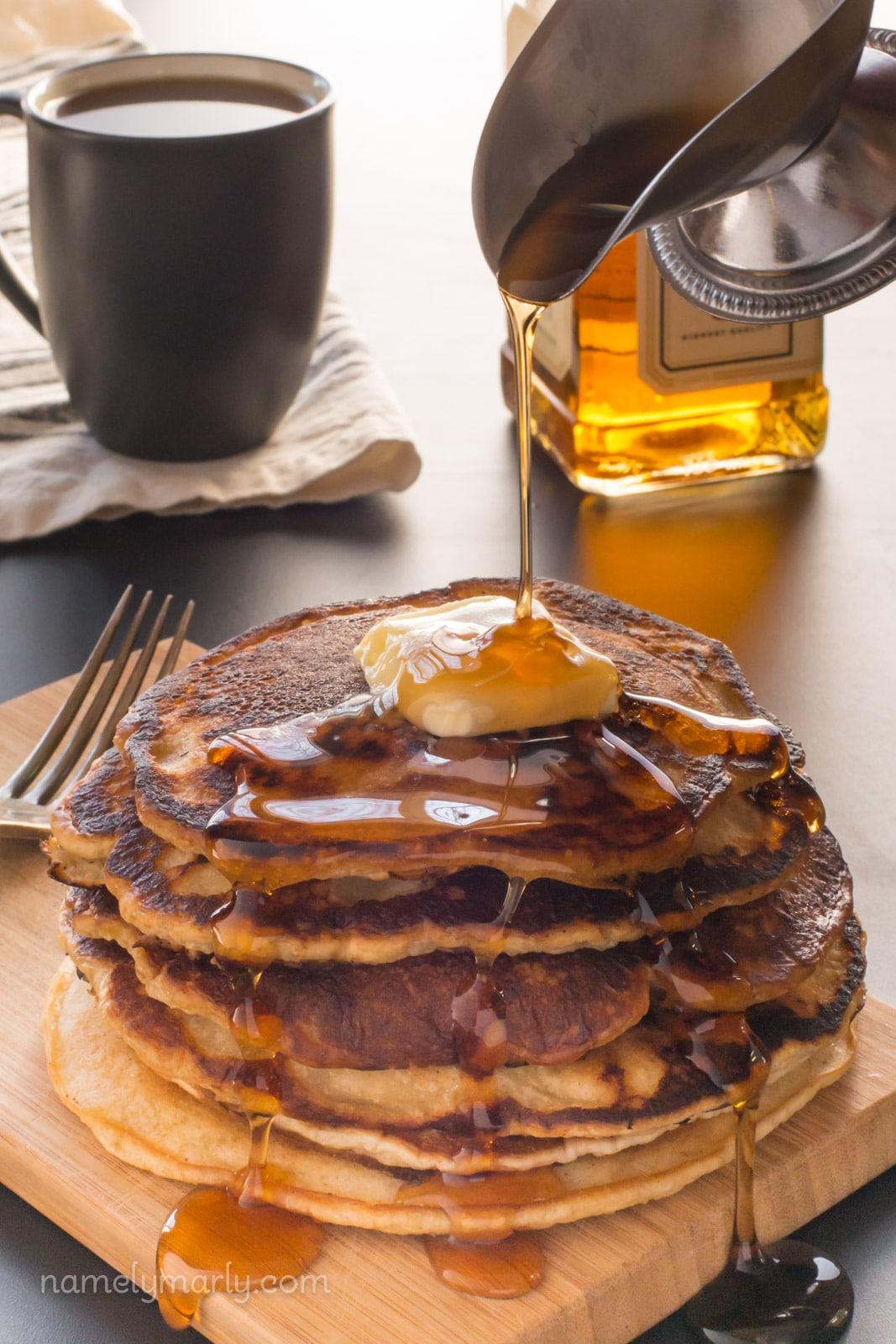 Vegan Whiskey Pancakes