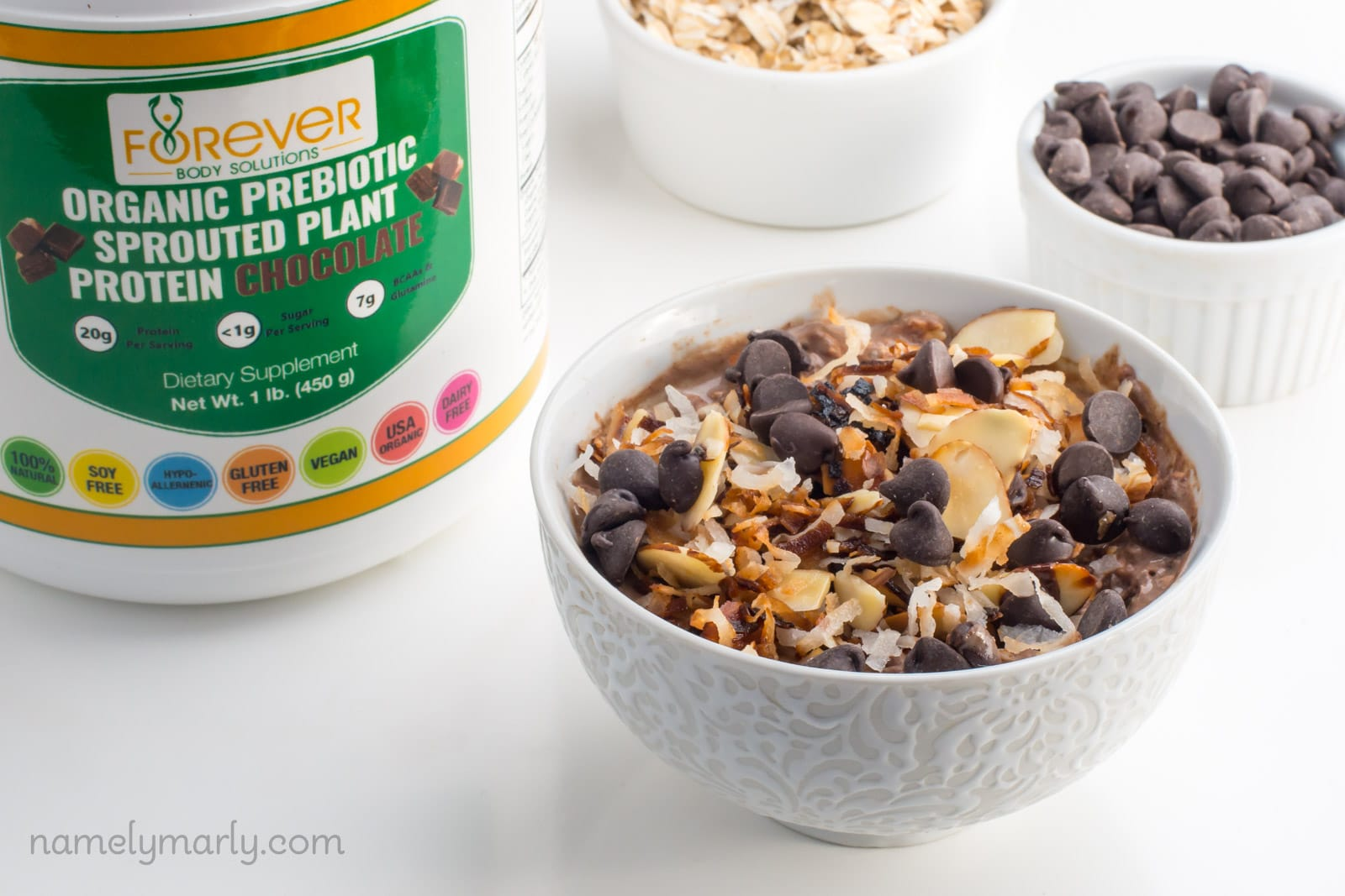 Vegan German Chocolate Overnight Oats