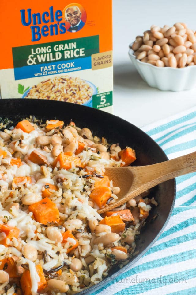 Wild Rice and Sweet Potato Skillet Dinner