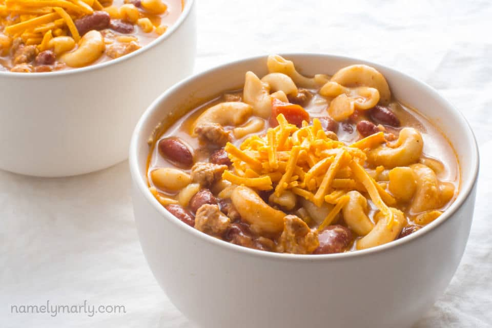 Vegan One-Pot Chili Mac and Cheese