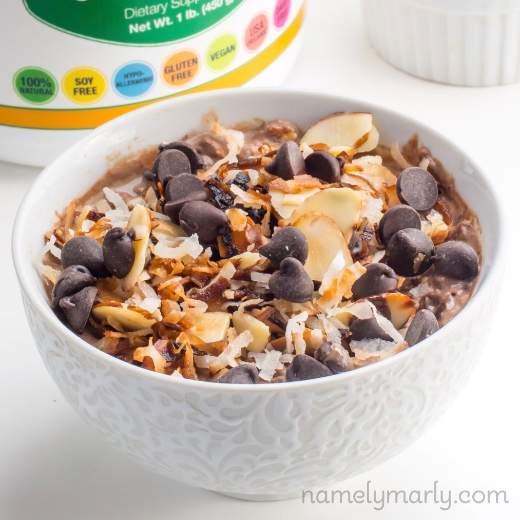 German Chocolate Overnight Oats