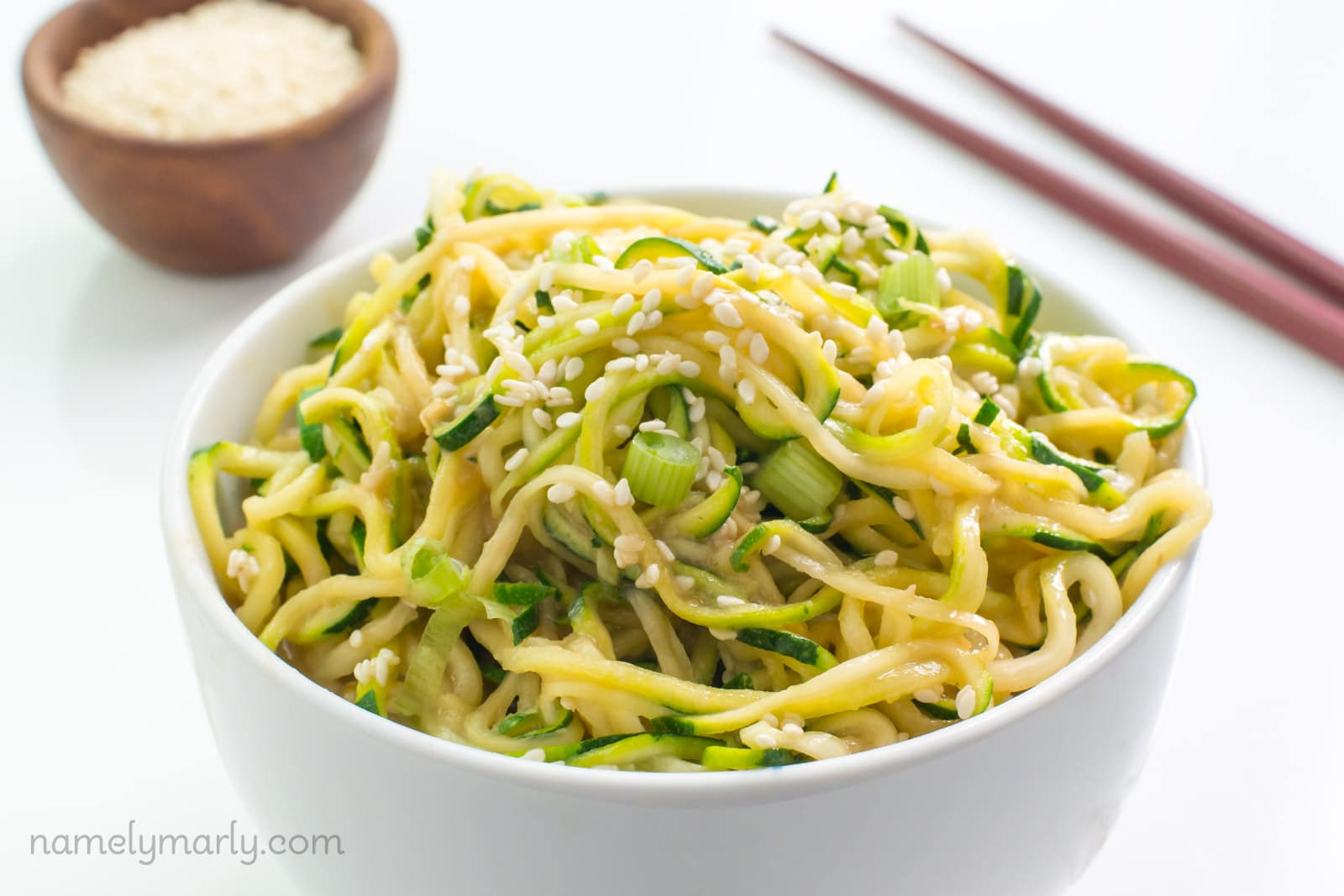 Spicy Sesame Zoodles