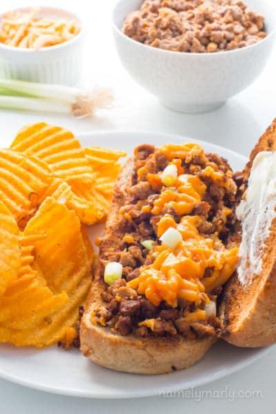 Vegan Chopped Cheese Sandwich