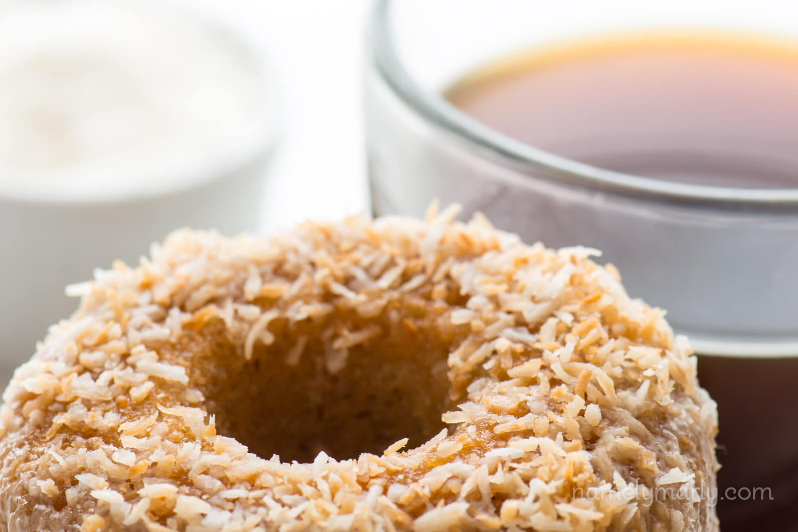 Vegan Baked Toasted Coconut Donuts