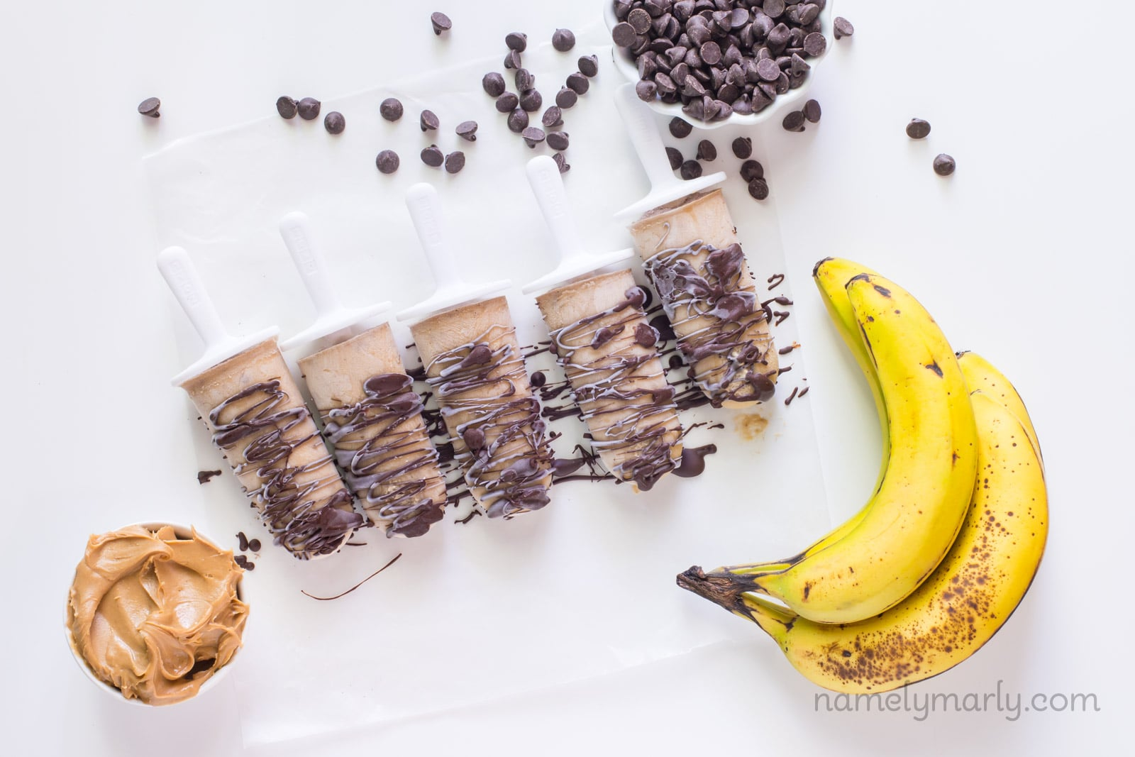 Vegan Chunky Monkey Popsicles