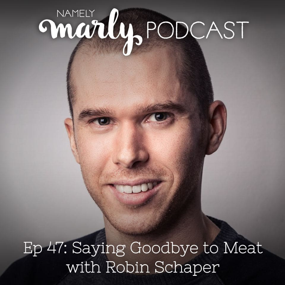 Robin Schaper is on the Namely Marly Podcast talking about Saying Goodbye to Meat. We're talking about his book that was recently released in the United States called Questioning Meat where he shares different perspectives about meat and why your life would be better without it.