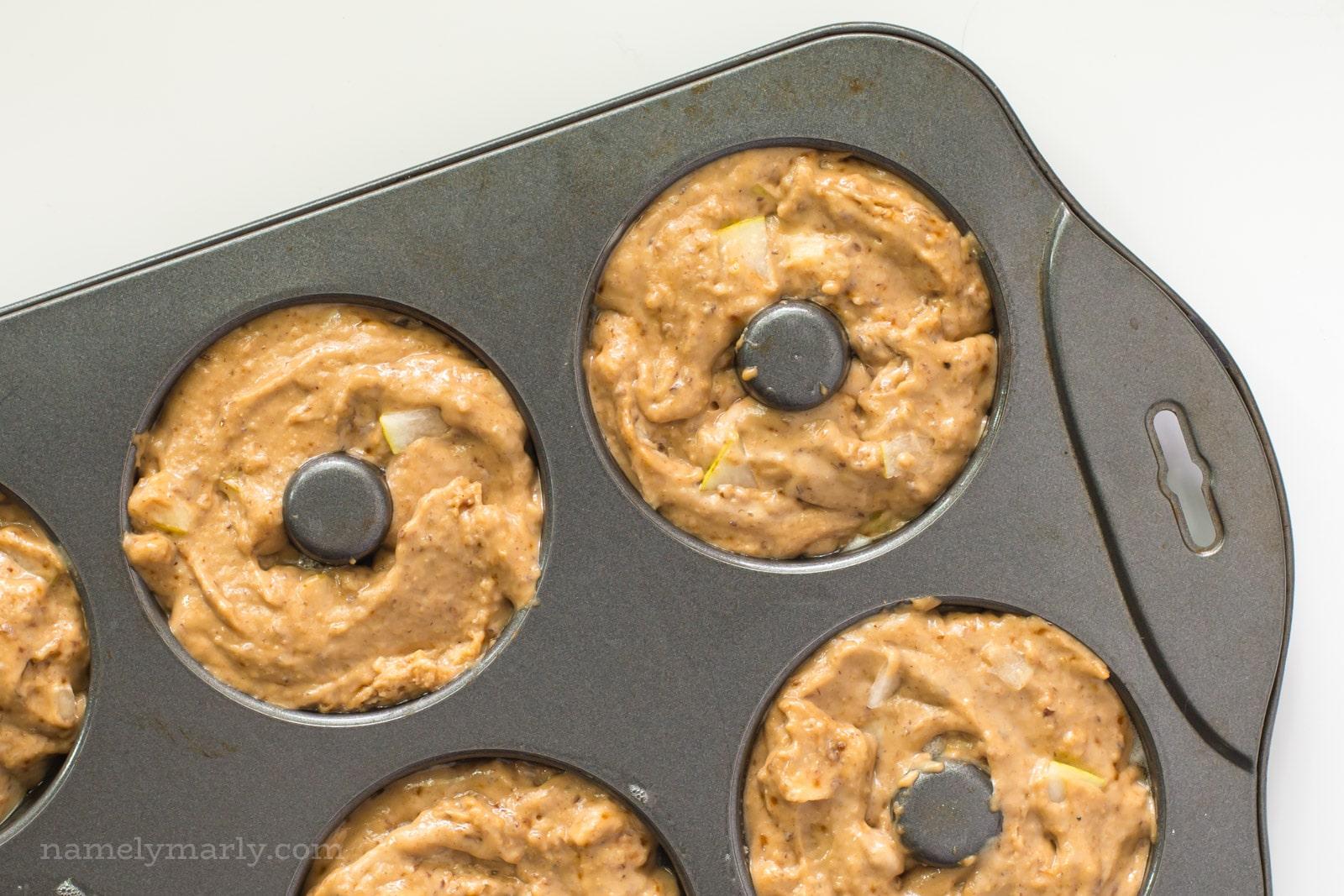 Vegan Baked Ginger Pear Donuts