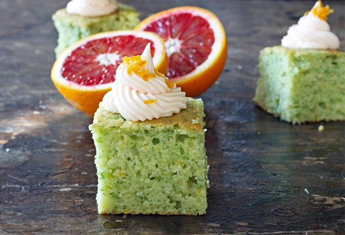 Kale Blood Orange Cake