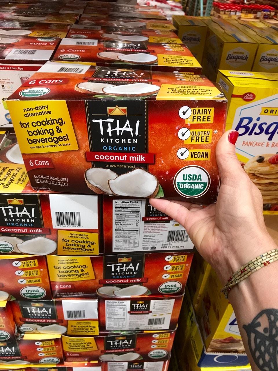 Thai Coconut Milk purchased at Costco