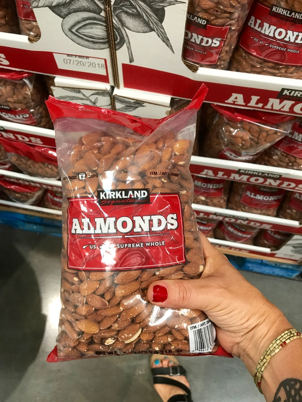 Kirkland Almonds are on of my 36 Favorite Vegan Products from Costco