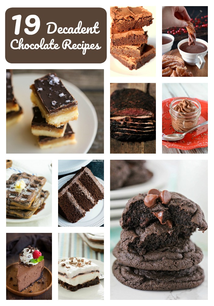 19 Decadent Chocolate Recipes to celebrate National Chocolate Day!