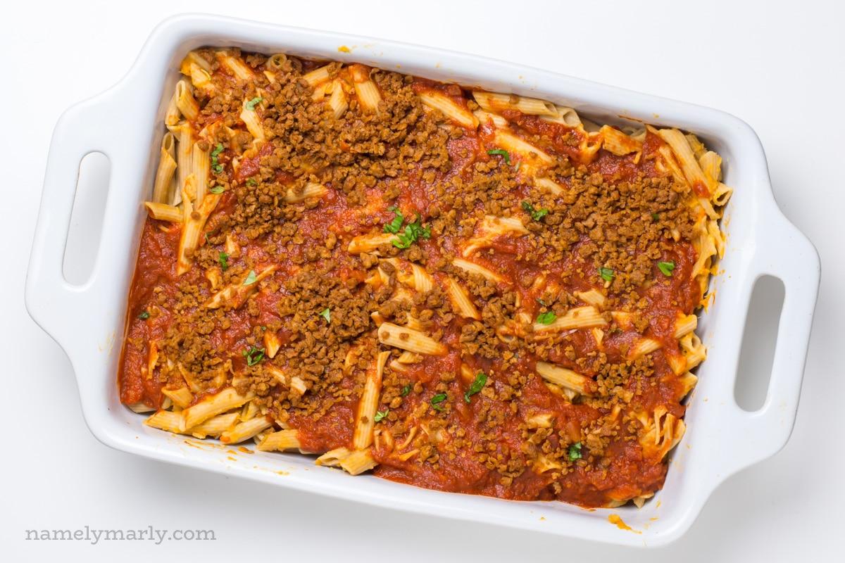 I love making this Easy Vegan Garlic Pasta dish!