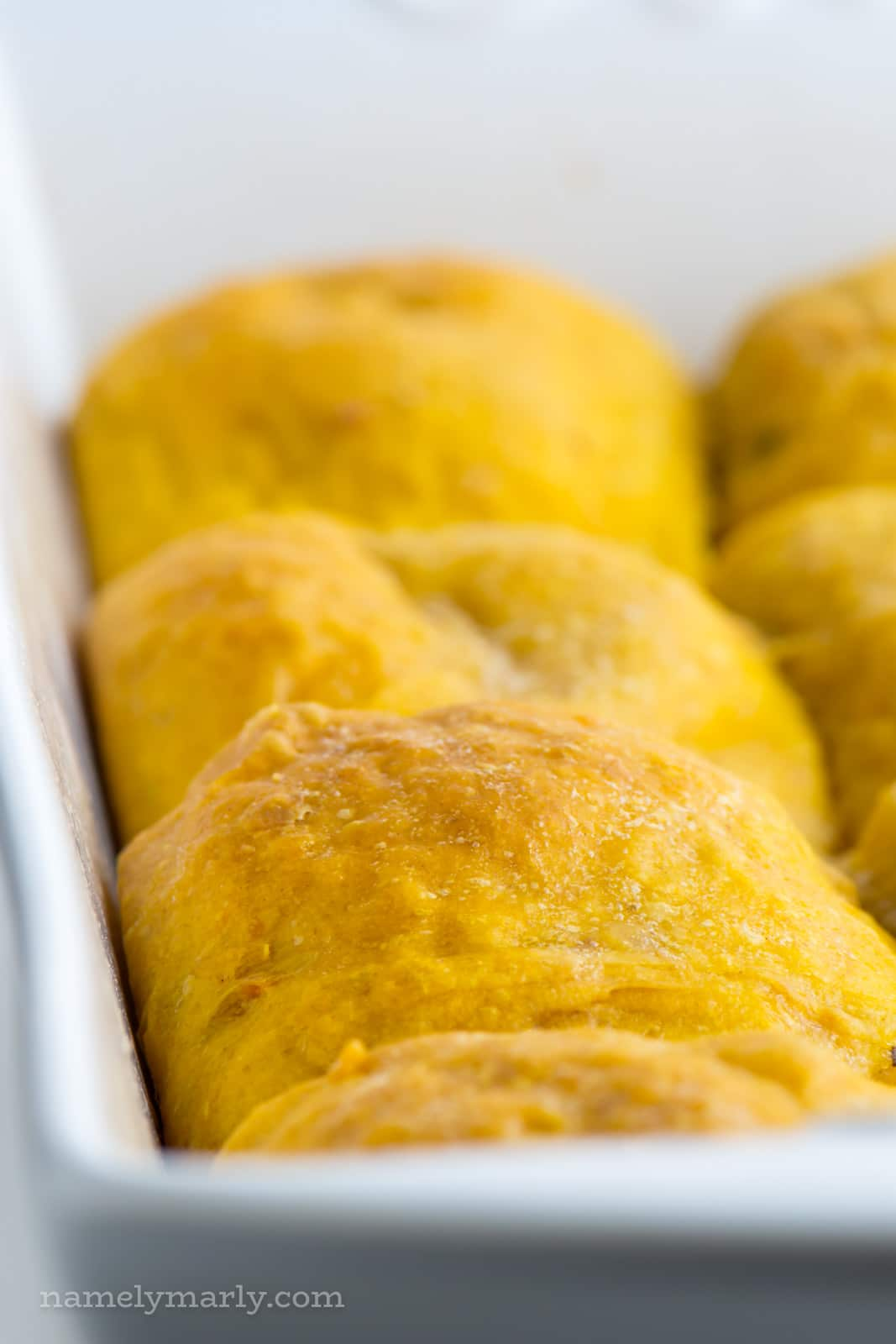 Delicious, soft, and buttery vegan sweet potato dinner rolls. Add these to your holiday dinner menu, and then you'll want to make them all-year round!