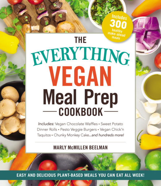 Cover of the Marly's Cookbook, The Everything Vegan Meal Prep Cookbook